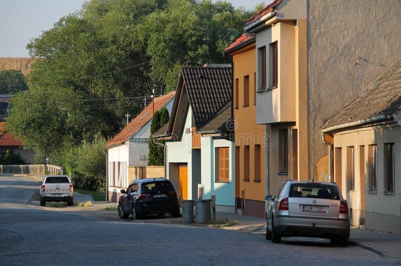 Straße Veverska Bityska lizenzfreies stockfoto
