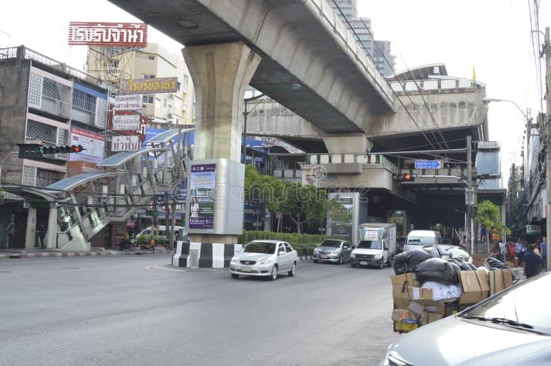 Straße ViewSukhumvit-Straße in Bangkok Thailand stockfotos