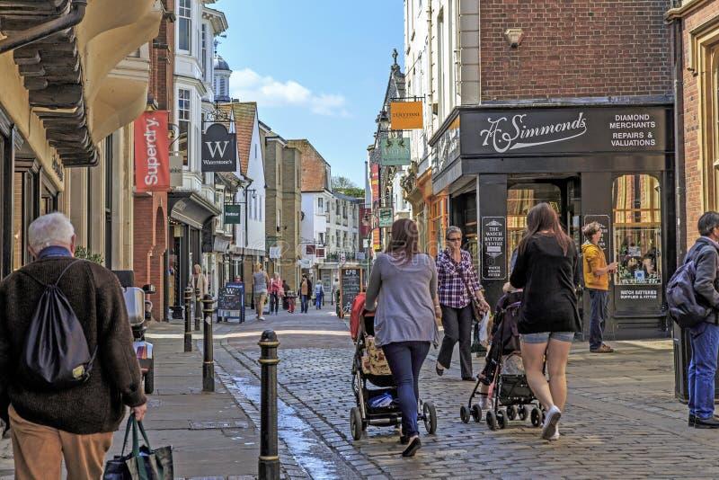 Straße von altem Canterbury, Großbritannien lizenzfreie stockfotografie