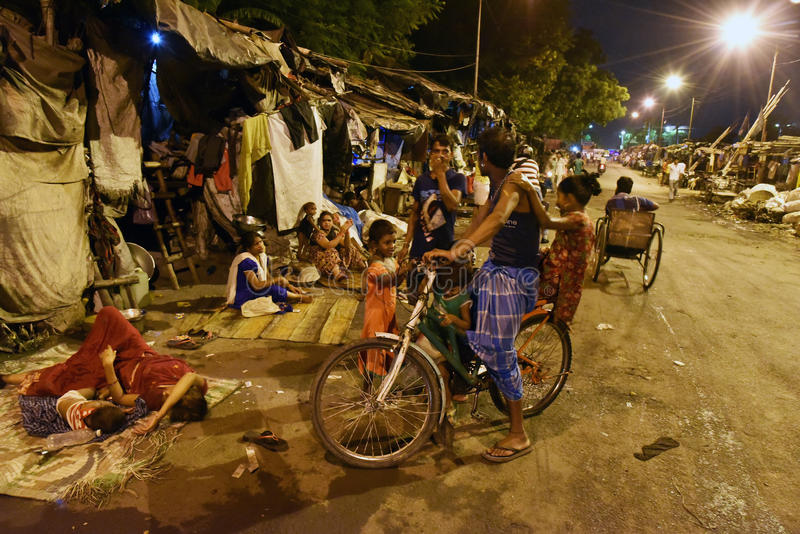 Straße von Kolkata lizenzfreie stockbilder