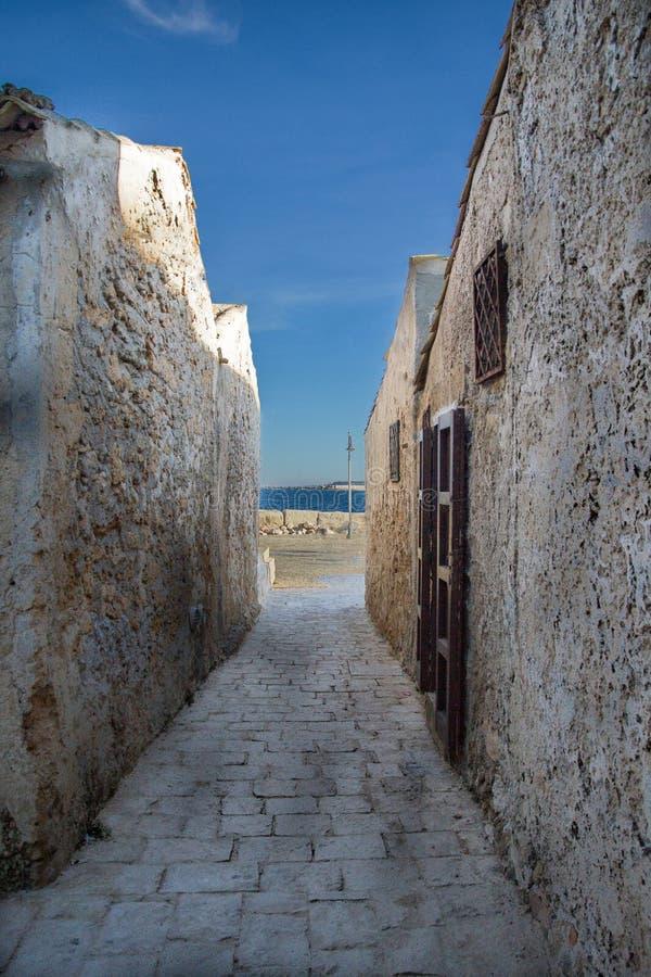 Straße von Marzamemi (Syrakus) stockfoto