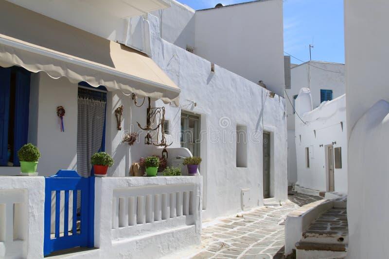 Straße von Mykonos stockfotografie