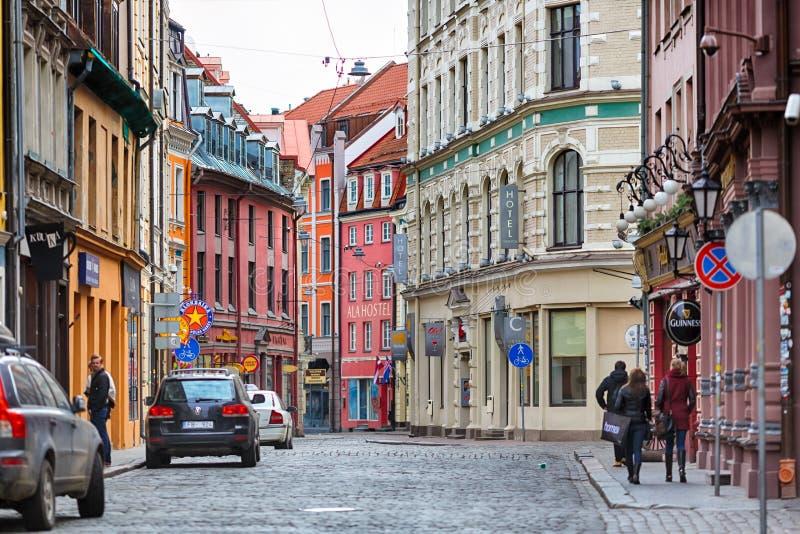 Straße von Riga lizenzfreies stockbild