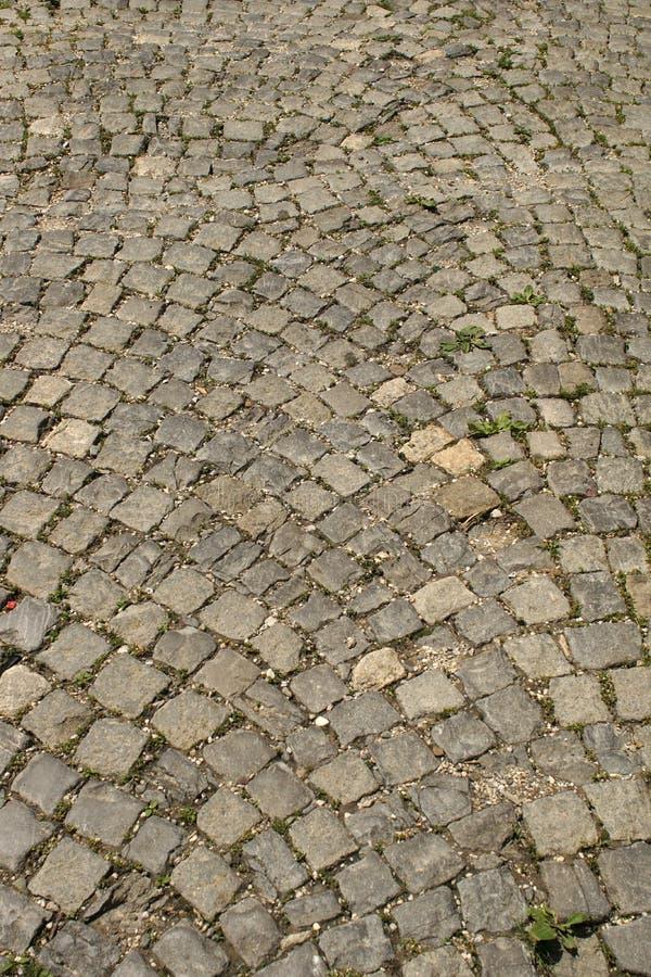 Straße von Steinen Blockbau lizenzfreie stockbilder