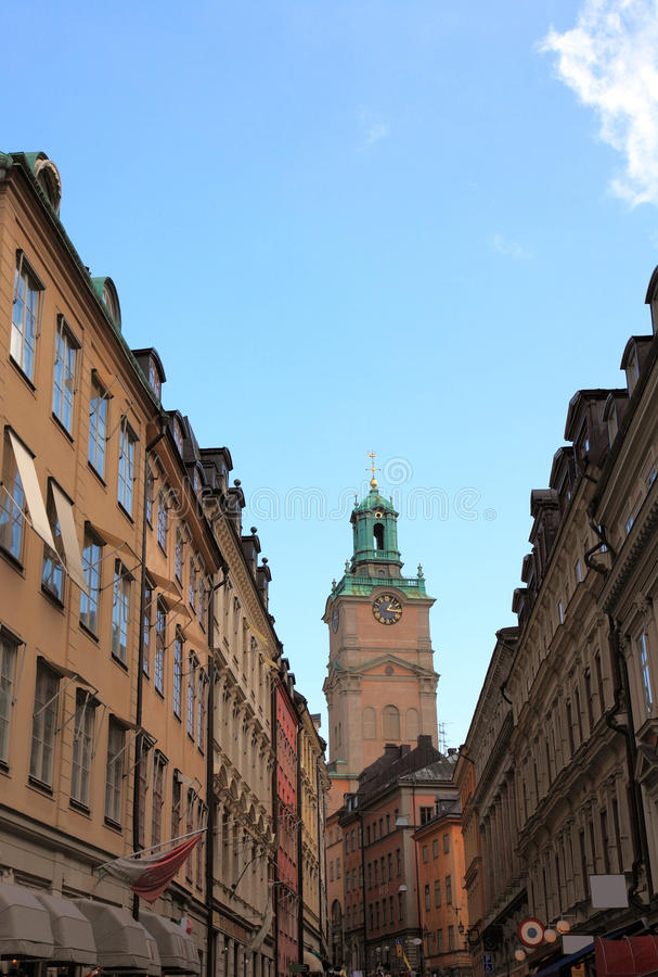 Straße von Stockholm. lizenzfreies stockbild