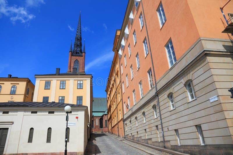 Straße von Stockholm. lizenzfreie stockfotos