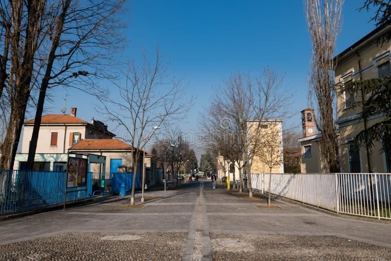 Straße von Trezzano-sul naviglio, Italien stockfoto