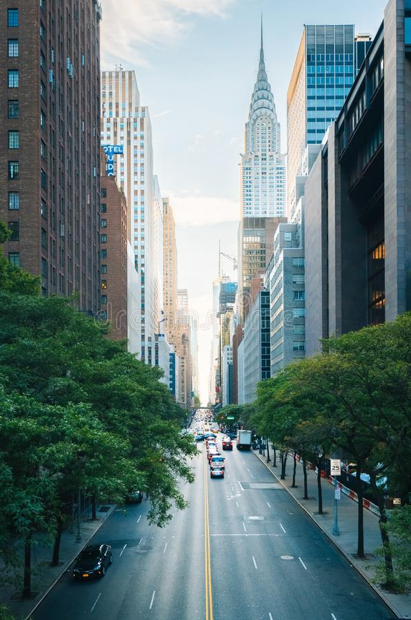 42. Straße von Tudor City, in Midtown Manhattan, New York City stockfotografie