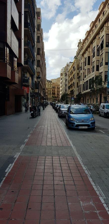 Straße von Valencia stockfotografie