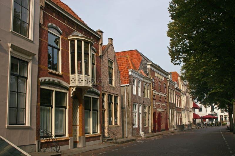 Straße in Zierikzee stockfoto