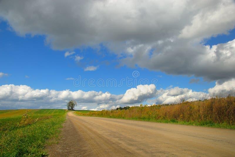 Straße zu überall stockfoto