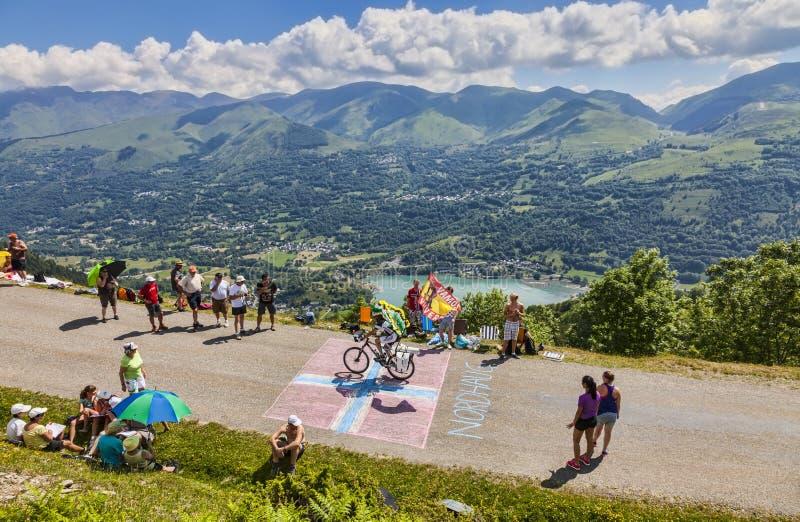 Straße zu Col.de Val Louron Azet lizenzfreie stockfotos