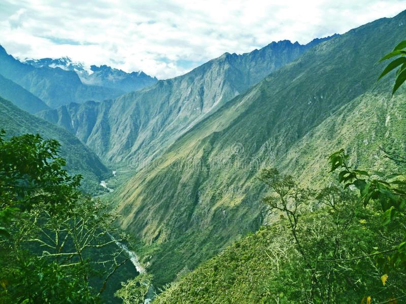 Straße zu Machu Picchu, Peru lizenzfreie stockbilder