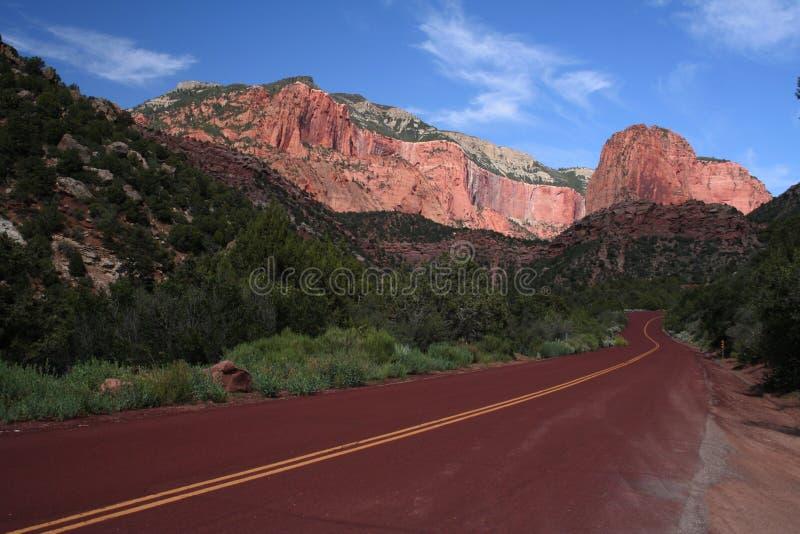 Straße zu Zion stockfotografie