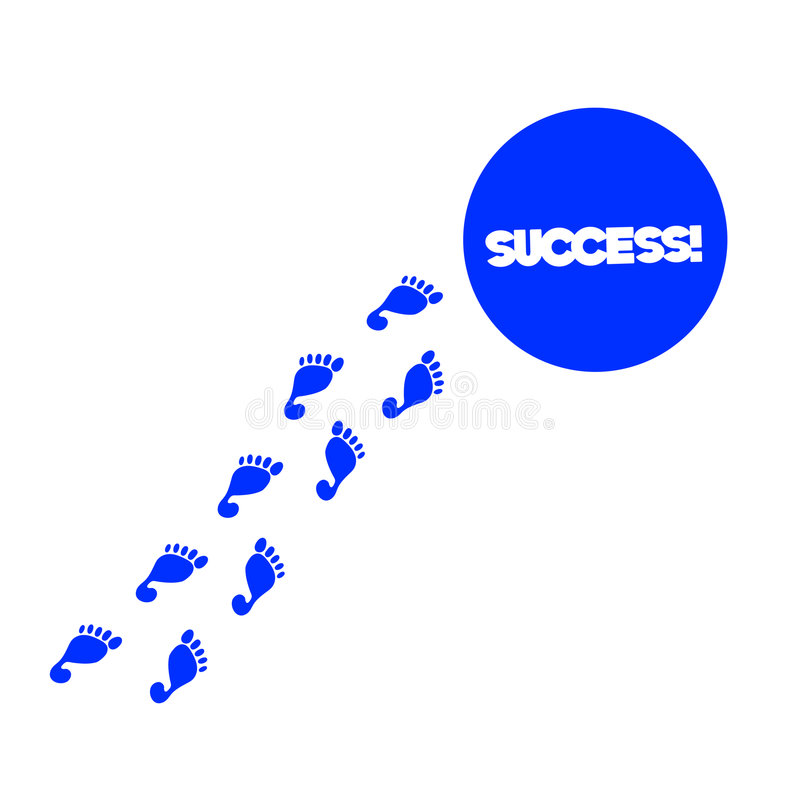 Straße zum Erfolg vektor abbildung