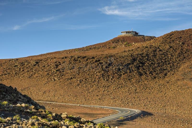 Straße zum Gipfel von Haleakala stockbild