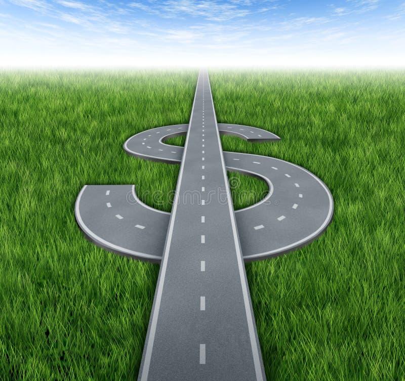 Straße zum Reichtum lizenzfreie abbildung