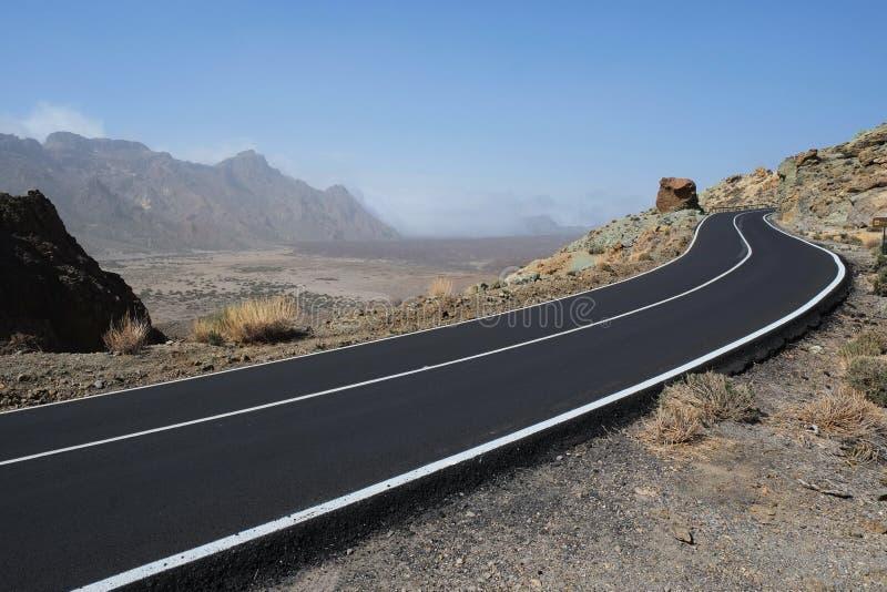 Straße zum vulcano in Teneriffa-teide lizenzfreie stockfotos