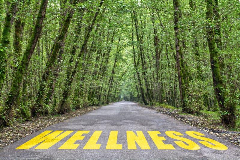 Straße zum Wellness lizenzfreie stockbilder