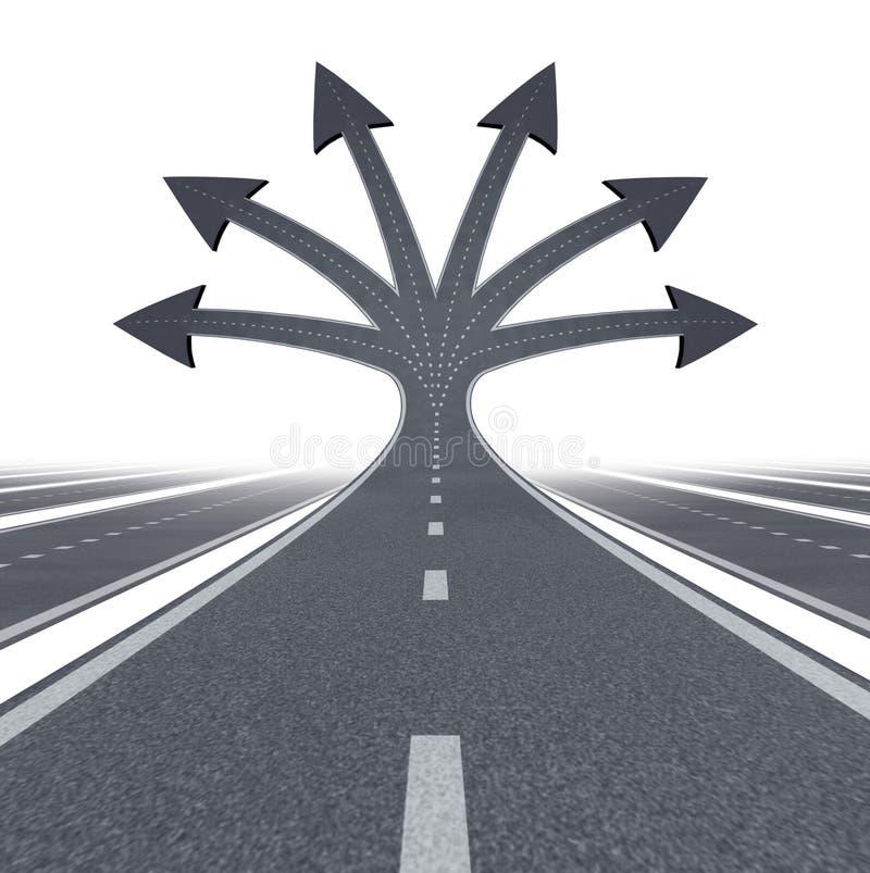 Straße zur Gelegenheit lizenzfreie abbildung