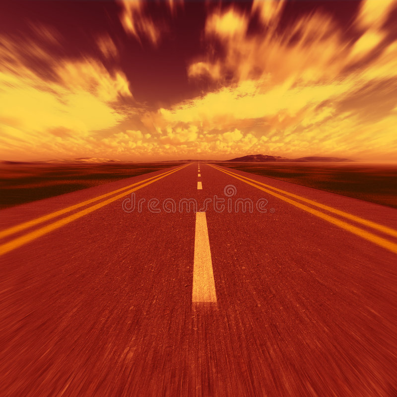 Straße zur Hölle lizenzfreie stockbilder