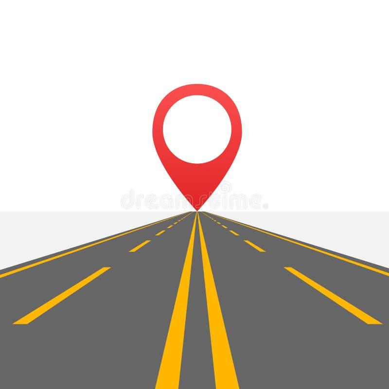 Straße zur Unendlichkeitslandstraße Straße in der Wüste Auch im corel abgehobenen Betrag stock abbildung