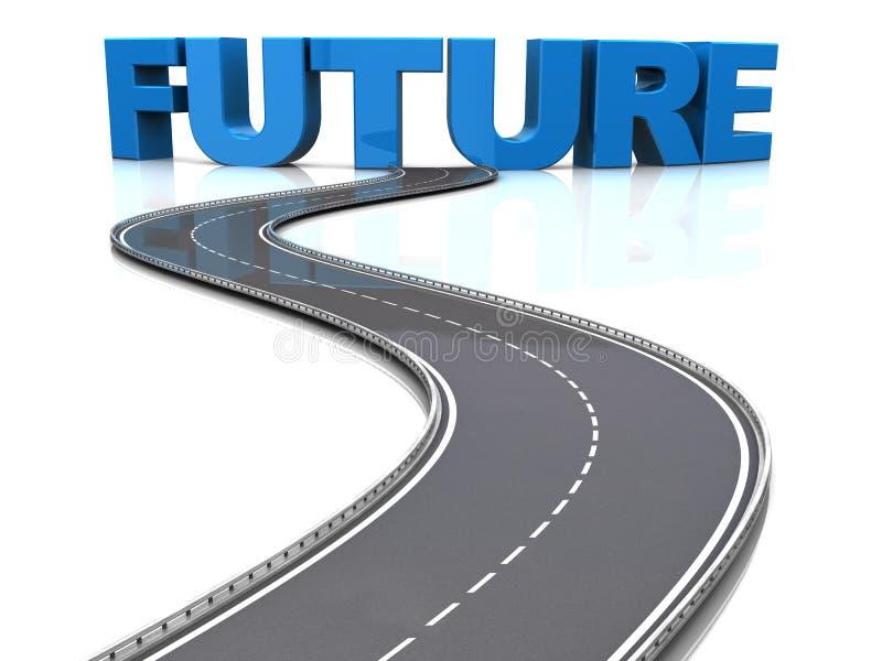 Straße zur Zukunft lizenzfreie abbildung