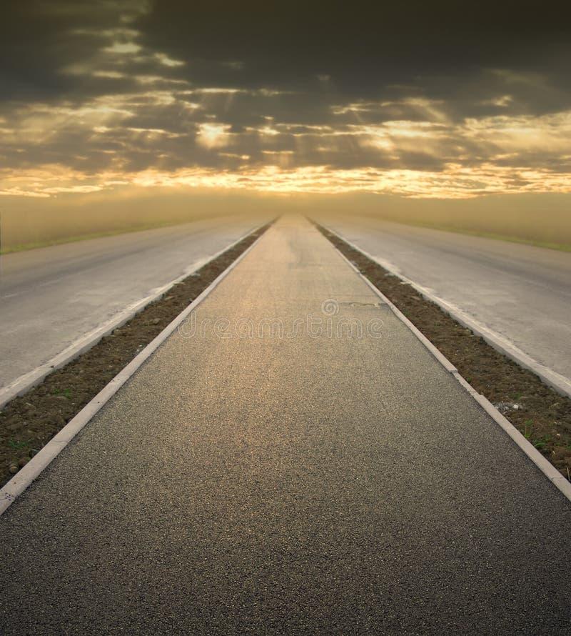 Straße zur Zukunft lizenzfreies stockbild