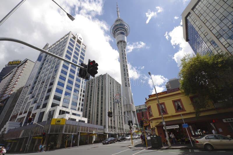 Straßen Auckland-Neuseeland lizenzfreie stockbilder