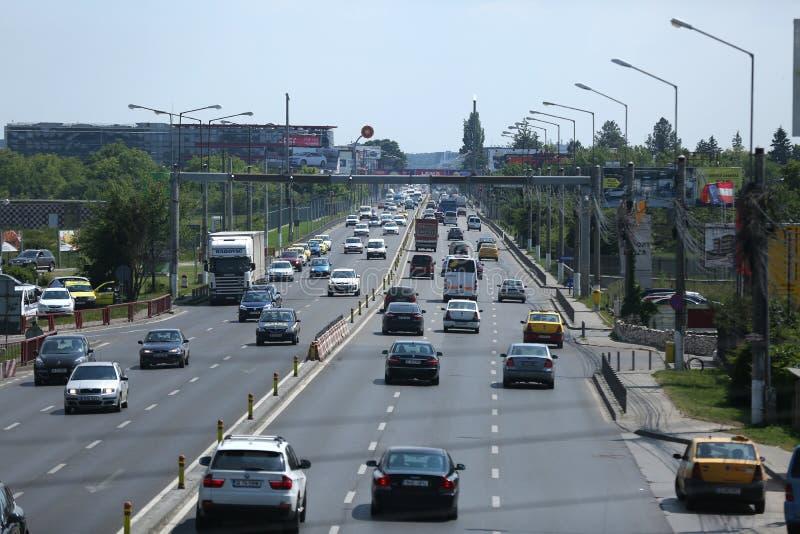 Straßen in Bukarest lizenzfreies stockbild