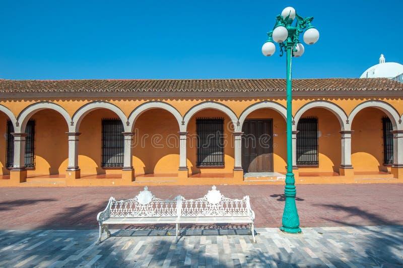 Straßen der mexikanischen Kolonialstadt Tlacotalpan, UNESCO-Welt Herit stockfoto