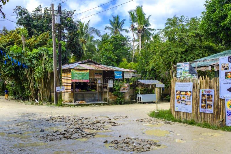 Straßen des Hafens Barton in Philippinen lizenzfreie stockfotos