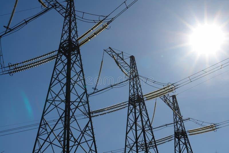 Straßen einer Elektrizität. stockbilder