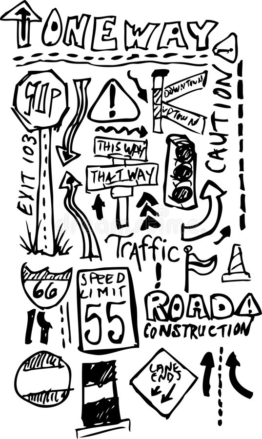 Straßen-Gekritzel stock abbildung