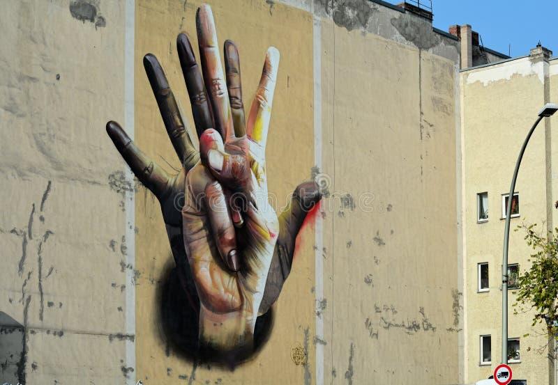 Straßen-Kunst in Berlin lizenzfreie stockfotografie