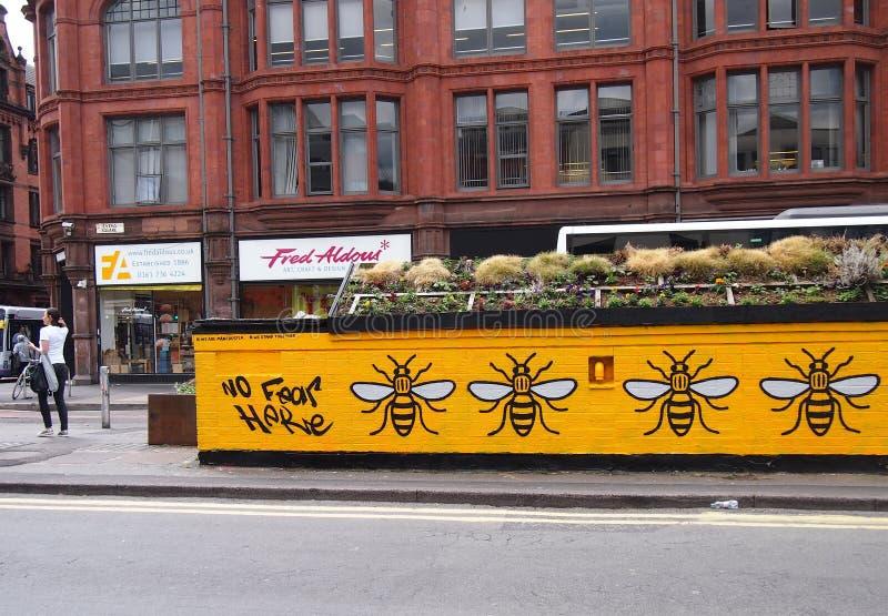 Straßen-Kunst in Erwiderung auf den Manchester-Arenaangriff lizenzfreie stockfotografie