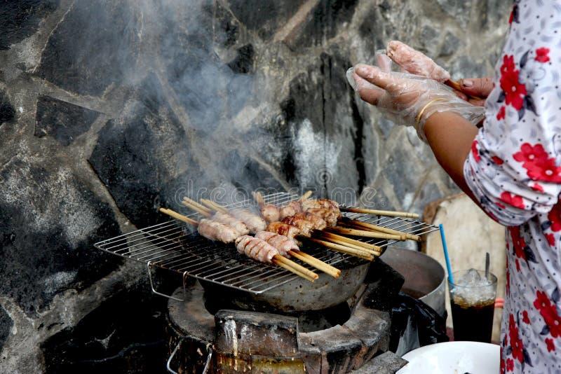 Straßen-Lebensmittel in Ho Chi Minh lizenzfreies stockfoto
