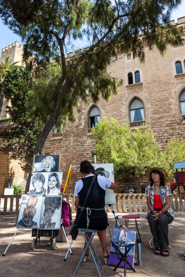 Straßen-Maler in Mallorca