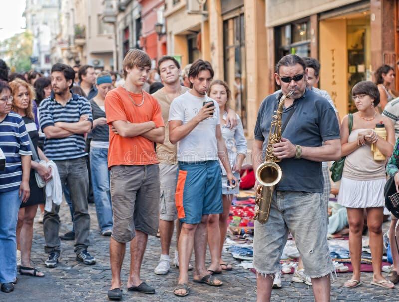 Straßen-Musik lizenzfreie stockfotos