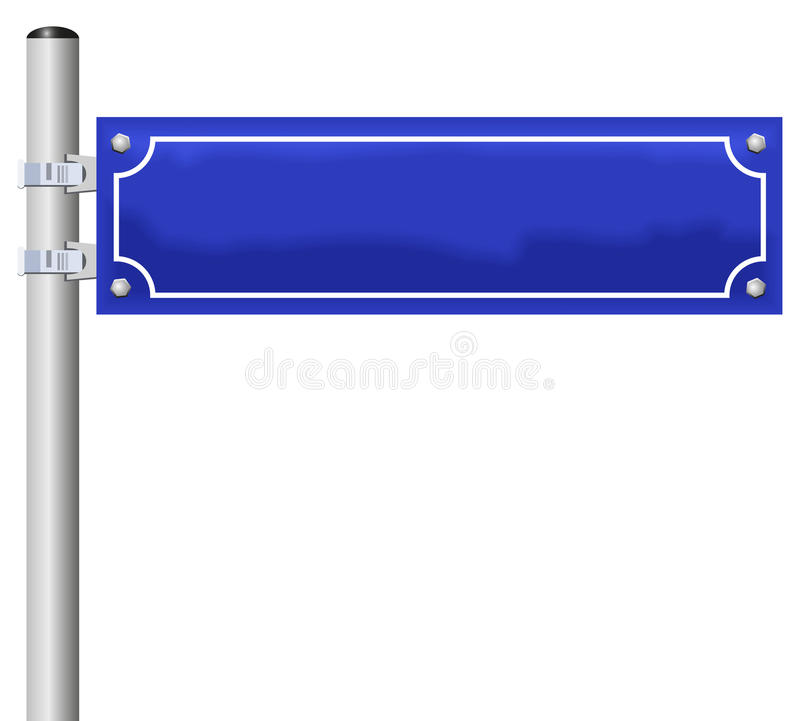 Straßen-Namen-Zeichen StreetNameSign-freien Raumes lizenzfreie abbildung