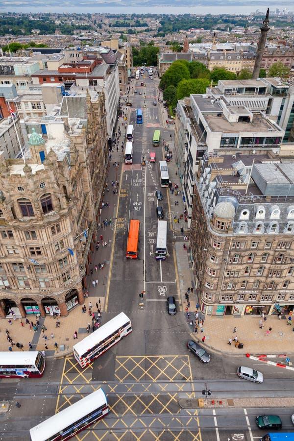 Straßen-neue Stadt Edinburgh Schottland Großbritannien St. Davids stockfotos