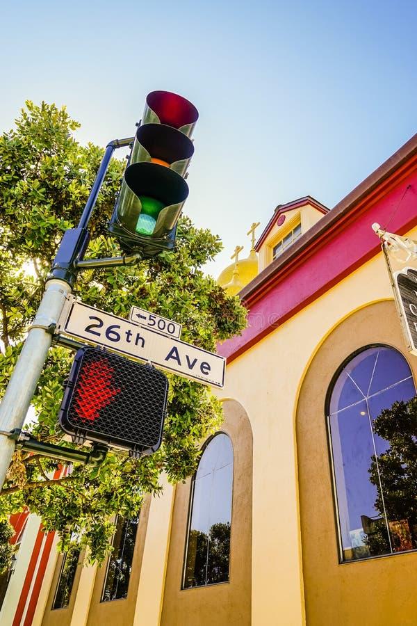 Straßen-San Francisco-Ampel stockfoto