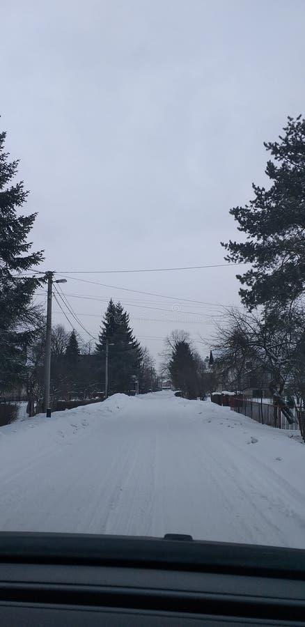 Straßen Snowy Sarajevo lizenzfreies stockbild