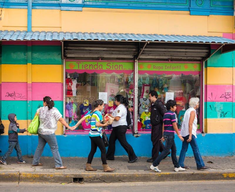 Straßen-Szene in San Jose Costa Rica stockfotografie