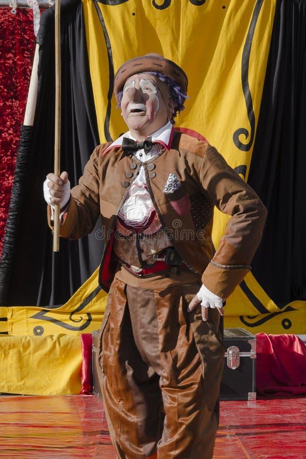 Straßen-Theater Aziz Gual lizenzfreie stockfotos