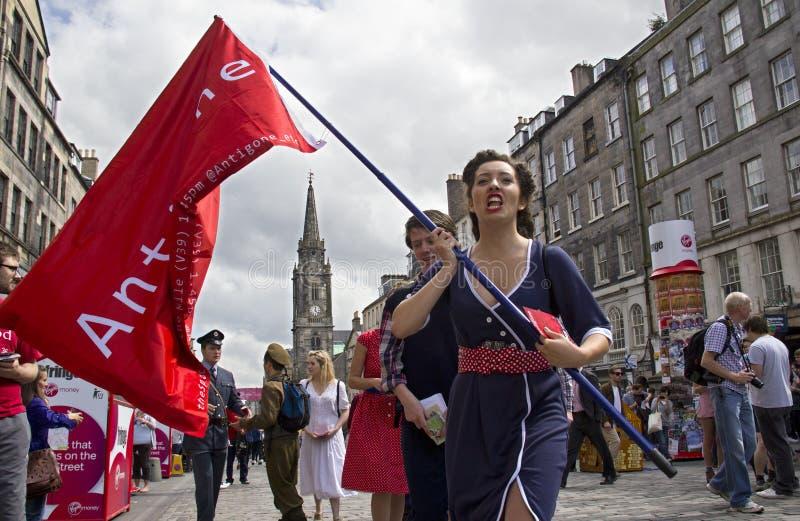 Straßen-Theater in Edinburgh stockfoto