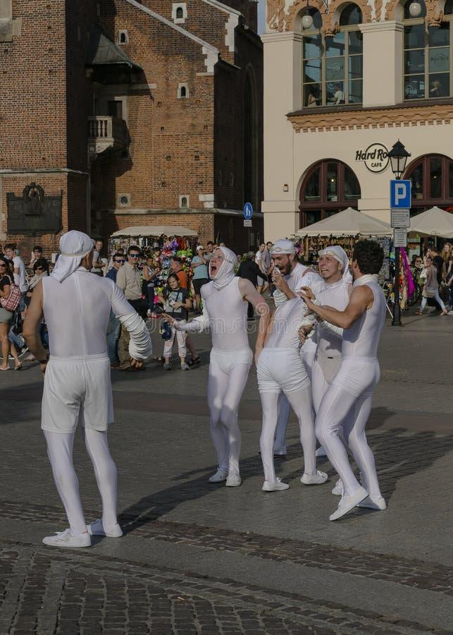 Straßen-Theaterfestival in Krakau lizenzfreies stockbild