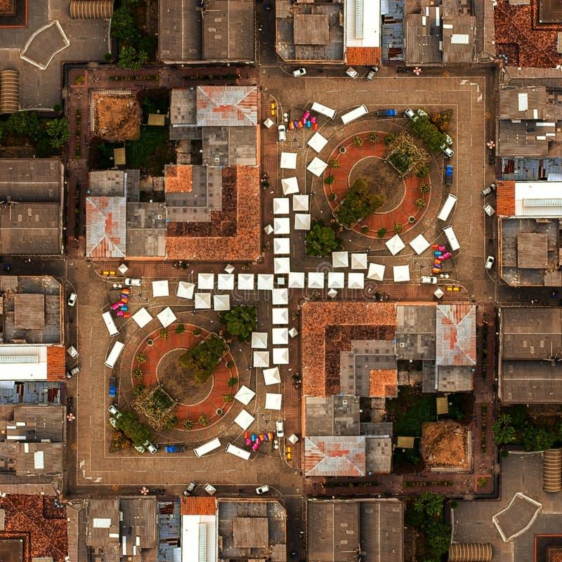 Straßen und enojoy viele Plätze Kolumbien Apia Apia Risaralda lizenzfreies stockfoto