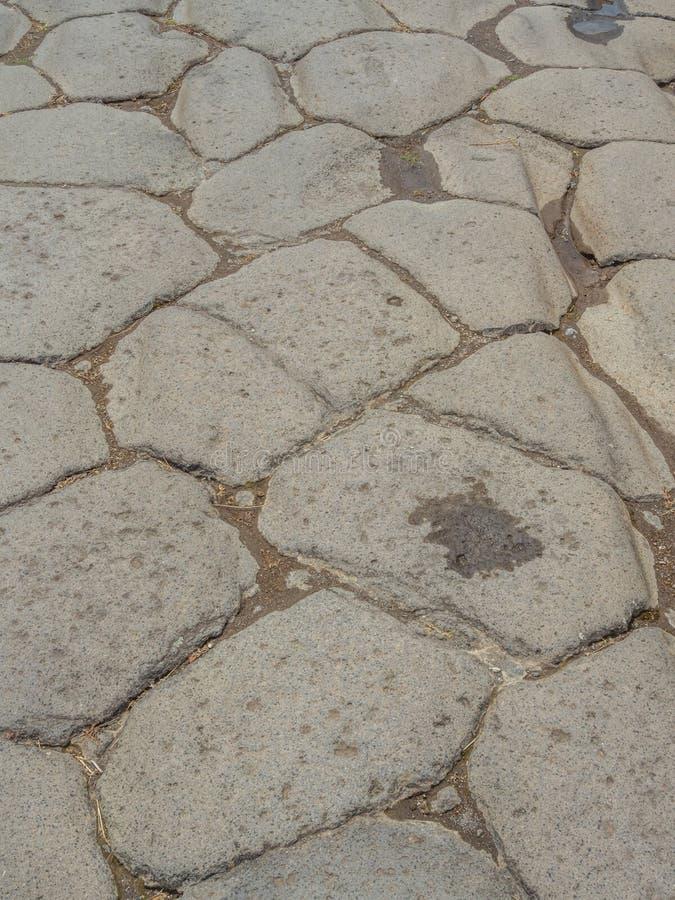 Straßen und Landhäuser von Pompeji, Italien Weltkulturerbeliste stockbild