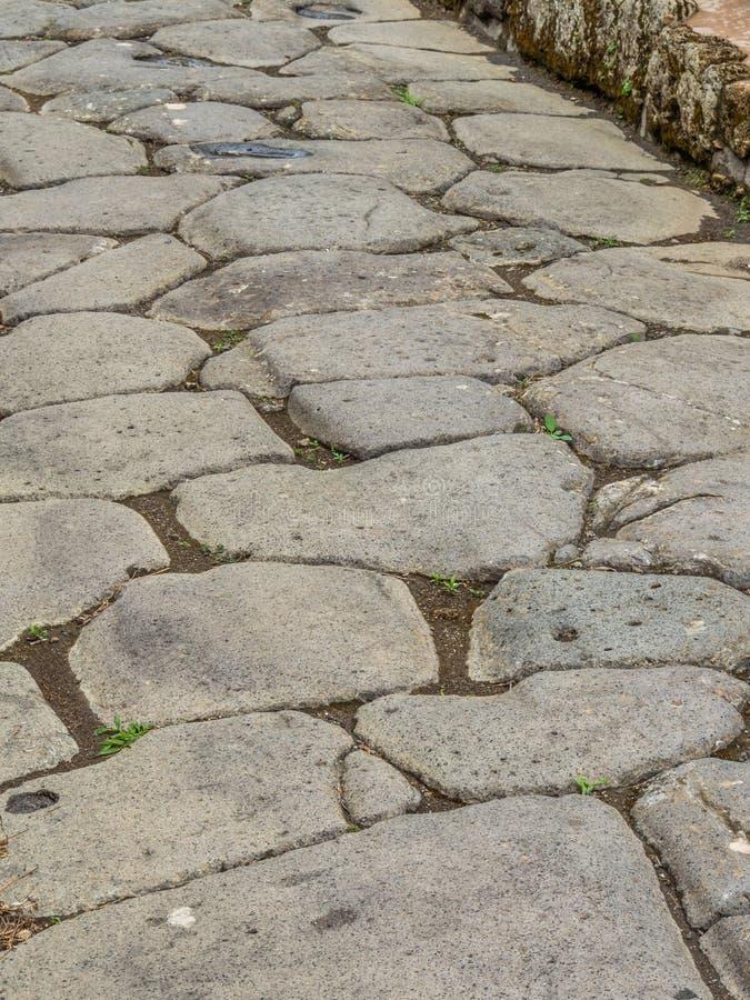 Straßen und Landhäuser von Pompeji, Italien Weltkulturerbeliste lizenzfreies stockbild